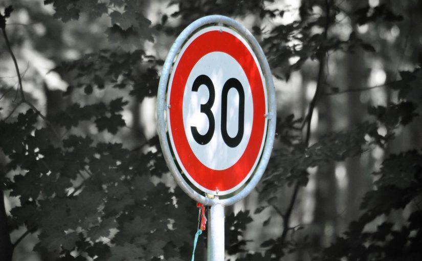limte velocidad 30km/h taler coche bilbao